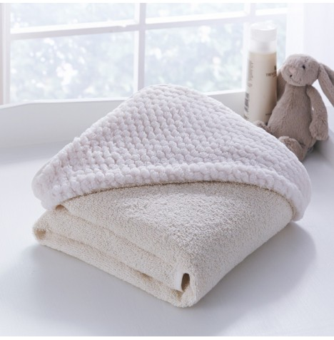 Clair De Lune Luxury Hooded Towel - Honeycomb Cream